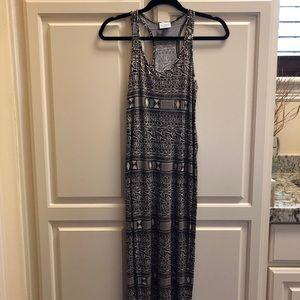 Black and White Aztec Maxi Dress!